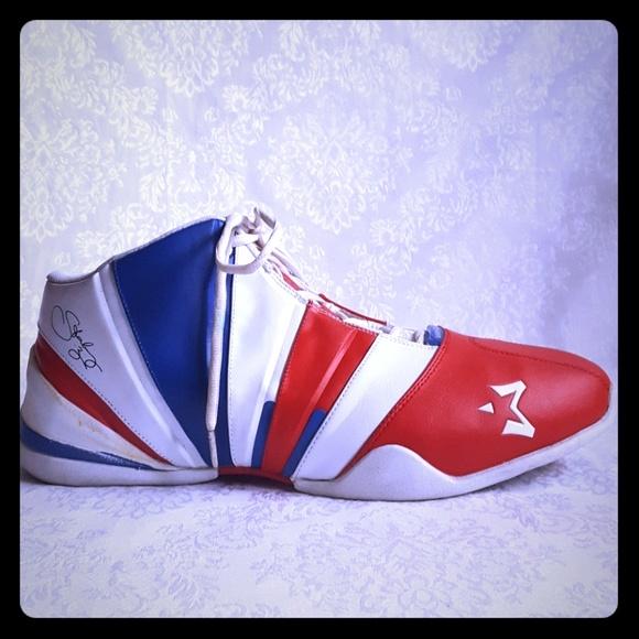 1e7e6354d7b0 ⚁Starbury Stephon Marbury Red White Blue Sneakers.  M 5af8bd4ecaab44dc4ff78d9f